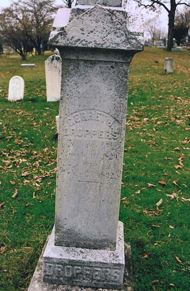 Photograph of tombstone