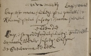 Baptismal record of Govert de Been