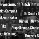 English versions of Dutch last names