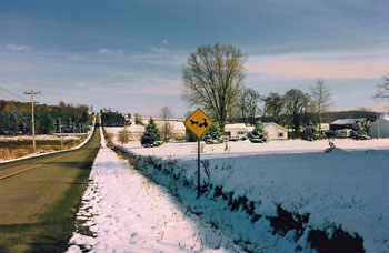 Photograph of snowy landscape