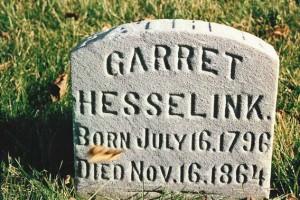 Garret Hesselink gravestone