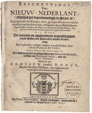 Front page of a book
