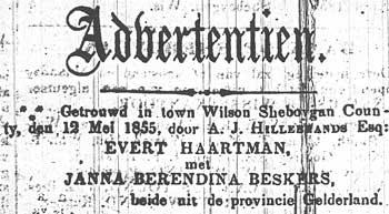Dutch advertisement