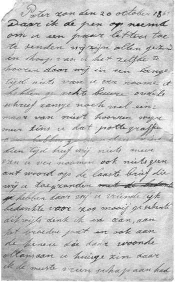 Beij letter page 1
