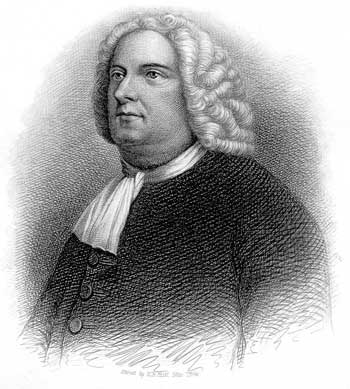 Portrait of a rather large man with a wig