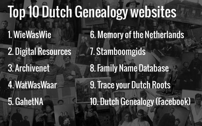 Top 10 websites for Dutch Genealogy