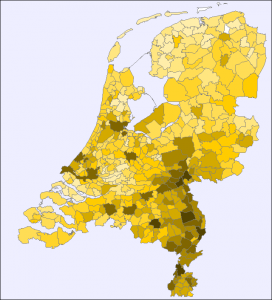 Map of the Netherlands