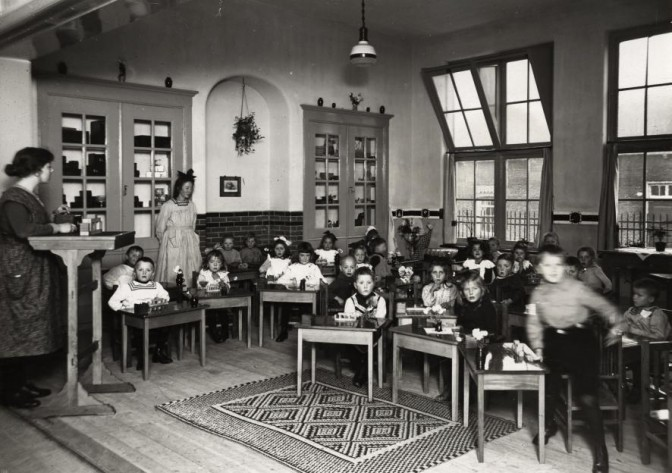 Young children in class