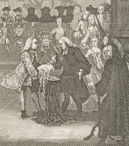 The baptism of William V of Orange, 1748