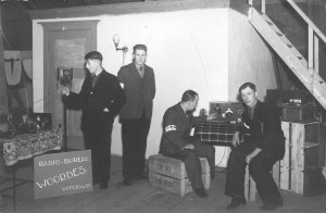 Henk (second man from the left) at Radio Woordes