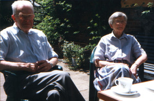 Henk and Mien in their garden