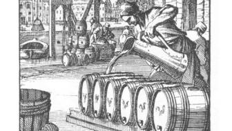 Brewer, print by Jan and Casparus Luyken, 1694.