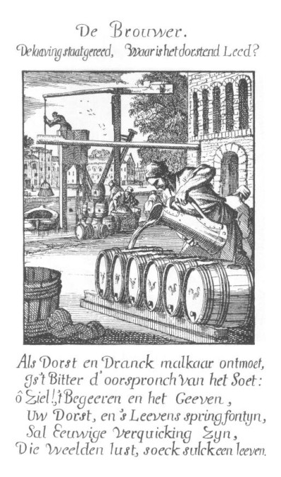 Brewer, print by Jan and Casparus Luyken, 1694.