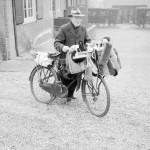 Brush salesman on bike