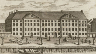 etching of a large builing