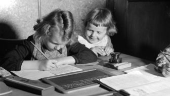 children learning to write