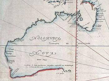 First Map Of Australia.Australia