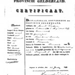 certificate including physical description