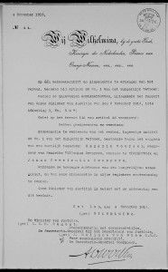 Copy of royal decree in the marriage supplements