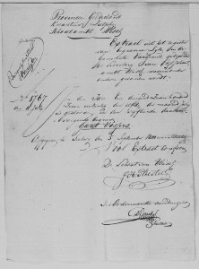 Extract of the burial record of Gart Vossers