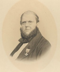 Portrait of a man with a medal