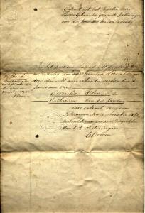 Marriage booklet of Cornelis Flooren and Catharina van der Zanden (p. 1)