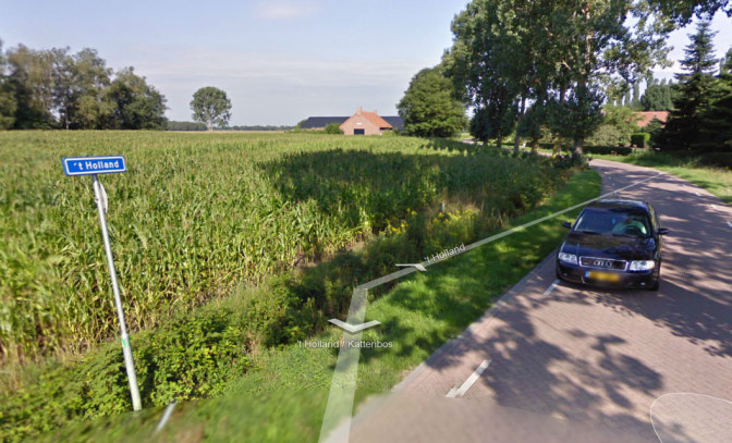 Streetview image of the Holland road
