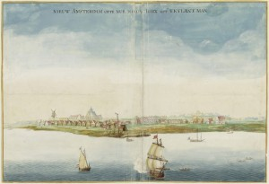 view of a city from a ship