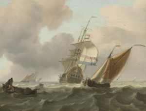 sea with ships