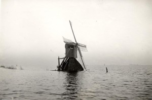 Windmill during a water surge