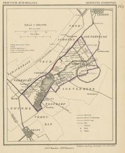 Municipal map of Stompwijk.