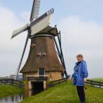 Cheryl at the Huinsermolen [Huins Mill]