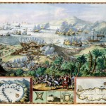 Sea battle between the Dutch and the French at Tobago in 1676