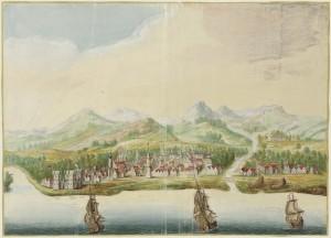 View of Calicut, India, 1665