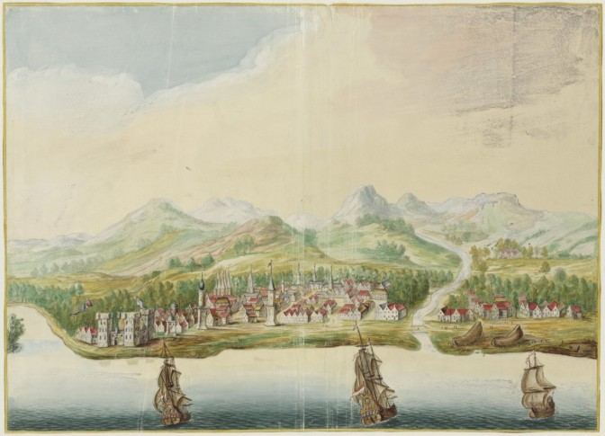 View of Calicut, India, 1665