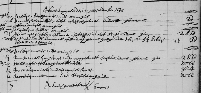 Burial of Jacob Tijmmerman (detail)
