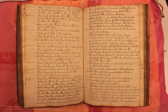 Prison log of Rotterdam, 1825