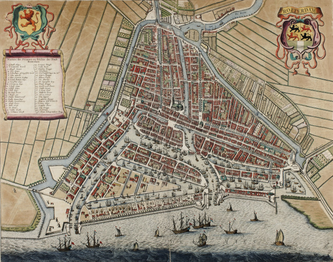 Rotterdam map by Jansonius (public domain)
