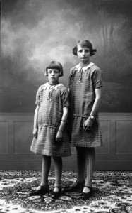 Photograph of two young girls