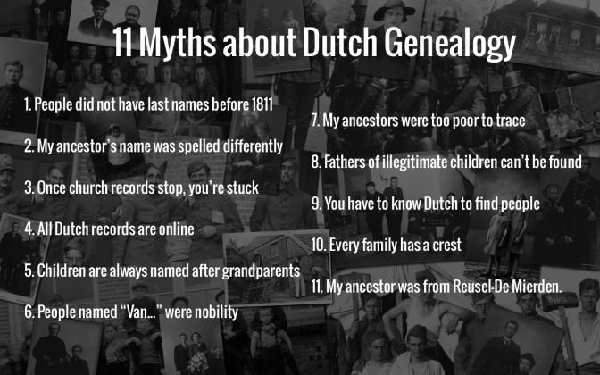 11 myths about Dutch Genealogy