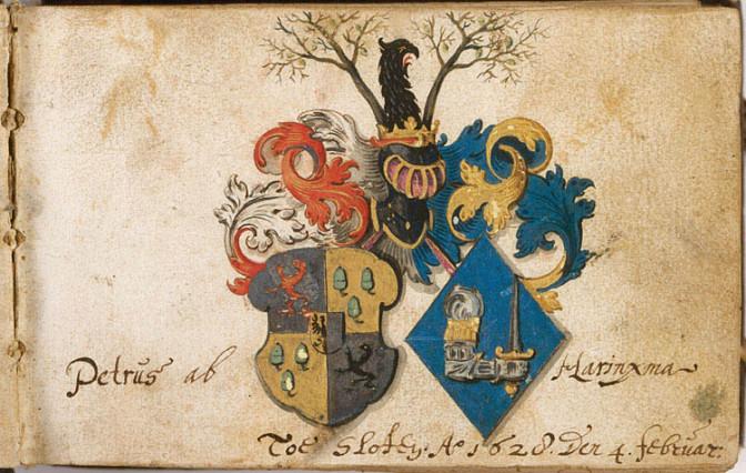 Friendship book of Pieter van Harinxma thoe Slooten. Credits: Koninklijke Bibliotheek, Wikimedia Commons (CC-BY-SA)
