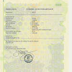 Certified copy of death record of Catharina Flooren