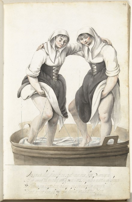 Laundress, by Gesina ter Borch, about 1652.