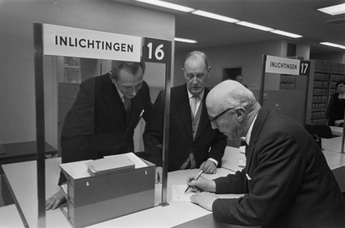 Information desk at the Amsterdam Civil Registration