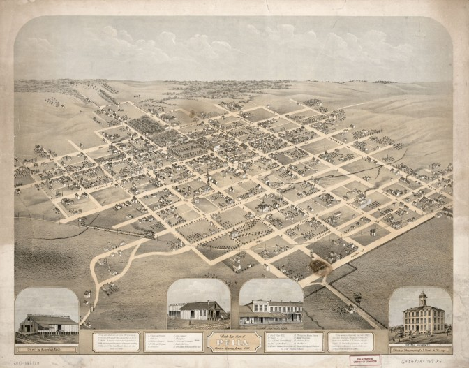 Bird's eye view of Pella, Iowa