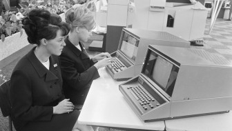 Computer demonstration, 1966