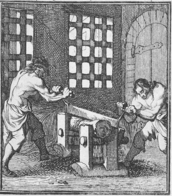 Two man operating a rasp
