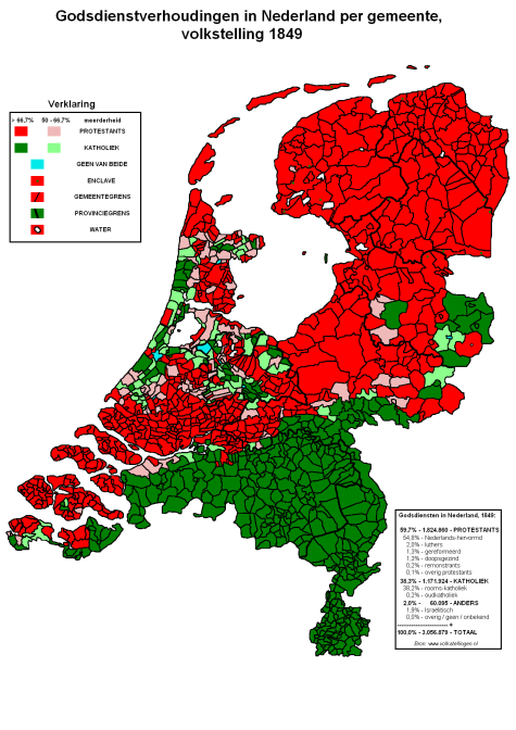 Religion in the Netherlands in 1849