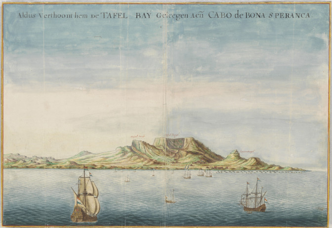 View of the Table Bay in 1660