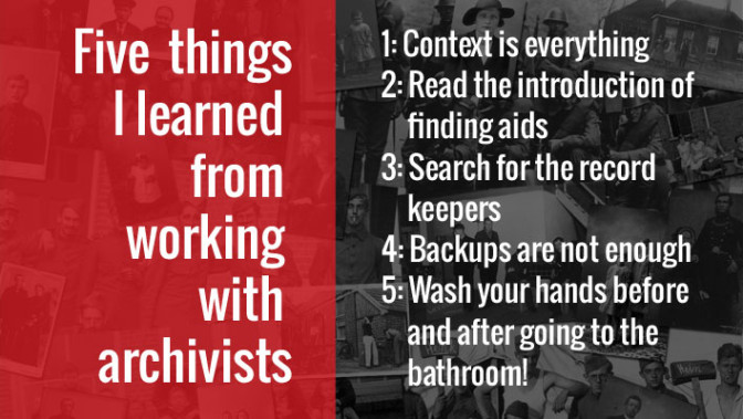 Five Things I learned from Archivists